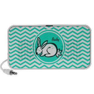Bunny Rabbit; Aqua Green Chevron iPhone Speaker