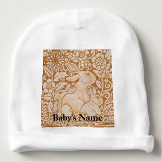 Bunny Rabbit Baby Beanie Hat Gold Vintage Sweet