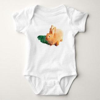 Bunny Rabbit Baby Bodysuit (White)