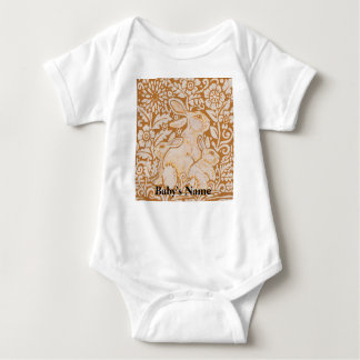 Bunny Rabbit Baby Gold Vintage Tshirt Personalized