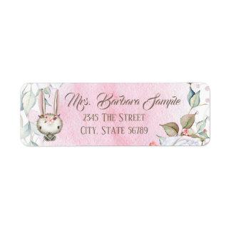 Bunny Rabbit Baby Shower Return Address Labels