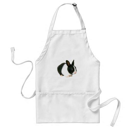 Bunny Rabbit Black & White Apron
