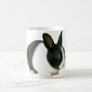 Bunny Rabbit Black & White Coffee Mug