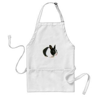 Bunny Rabbit Black & White Standard Apron