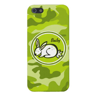 Bunny Rabbit bright green camo camouflage Covers For iPhone 5