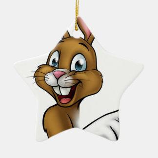 Bunny Rabbit Cartoon Ceramic Star Decoration