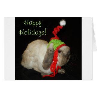 Bunny Rabbit Christmas Blank Note Card