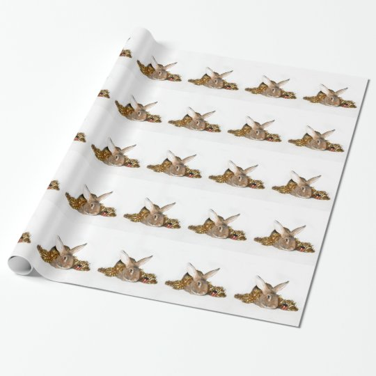 Bunny rabbit Christmas Wrapping Paper