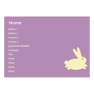 Bunny Rabbit - Chubby Business Card Templates