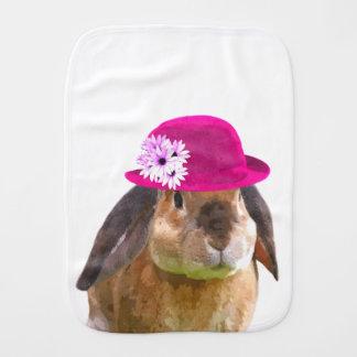 Bunny rabbit cute and funny woodland animal burp cloth