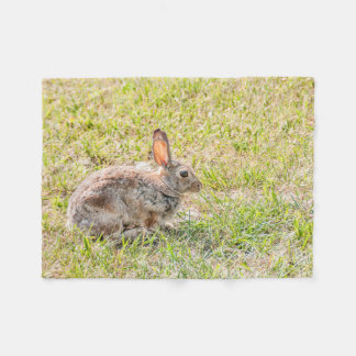 Bunny Rabbit - Easter - Wildlife - Animal Fleece Blanket