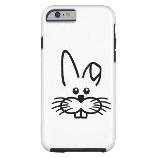 Bunny rabbit face tough iPhone 6 case