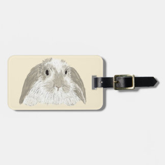Bunny Rabbit Luggage Tag