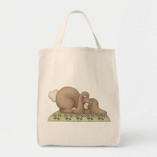 Bunny Rabbit Nap Grocery Tote Bag