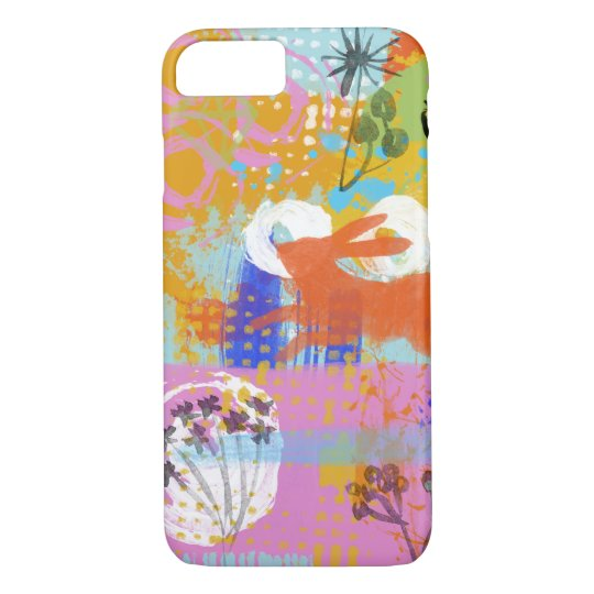 Bunny Rabbit Painting Abstract All Over Print iPhone 8/7 Case