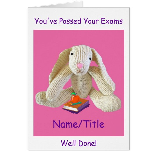 Bunny Rabbit Passed your Exams greetings Card