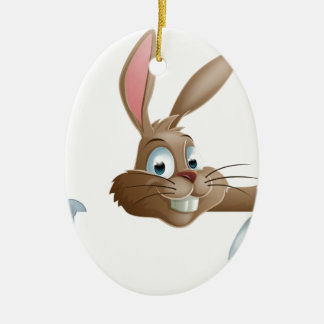 Bunny Rabbit Pointing Down Ornament