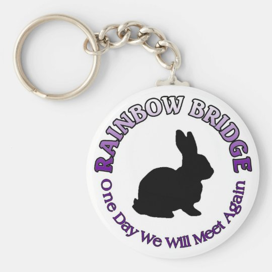 BUNNY RABBIT RAINBOW BRIDGE KEYCHAIN