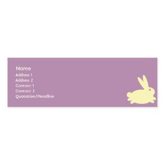 Bunny Rabbit - Skinny Business Card Templates