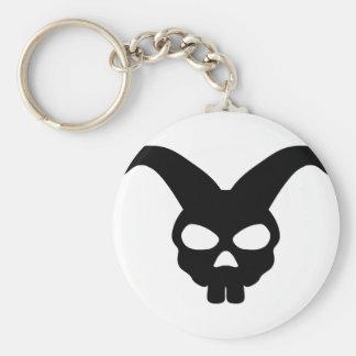 Bunny Rabbit Skull Basic Round Button Key Ring