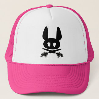 Bunny Rabbit Skull Trucker Hat