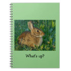 Bunny Rabbit Spiral Photo Notebook