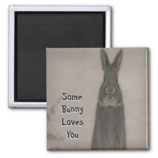 Bunny Rabbit Square Magnet