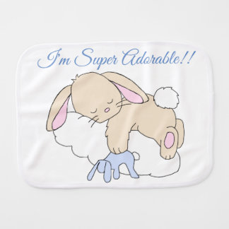 Bunny Rabbit Woodland Animal Neutral Baby Nursery Burp Cloth