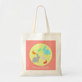 Bunny / Rabbit World Funky Tote Bag