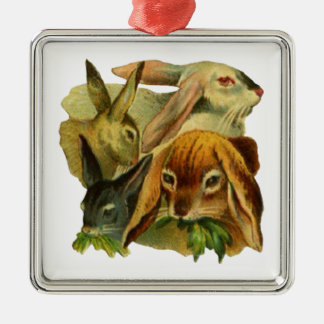 Bunny Rabbits Christmas Ornament