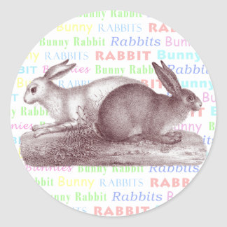 Bunny Rabbits Stickers - Dress Up Your Packages