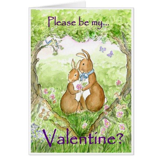 'Bunny Rabbits' Valentine Card