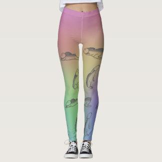 Bunny Rainbow Yoga Pants