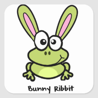 Bunny Ribbit - Rabbit Frog Square Sticker