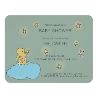 Bunny Roo - Catch a Falling Star Baby Shower Card