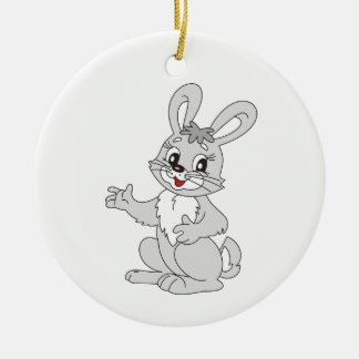 Bunny Round Ceramic Decoration