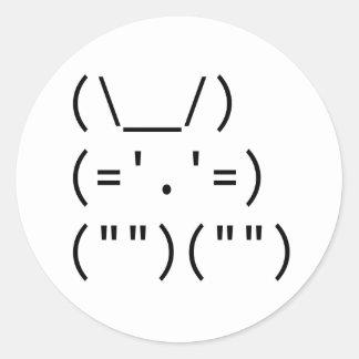 Bunny Round Sticker