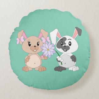 """Bunny - Round Throw Pillow (16"""")"""