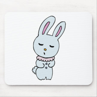 Bunny Soft Blue Colored Mousepads