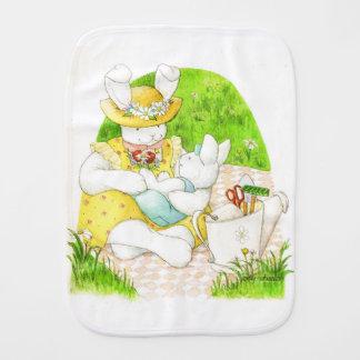Bunny Swaddle Burp Cloth