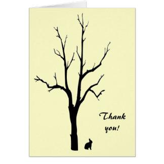 Bunny Thank You Card