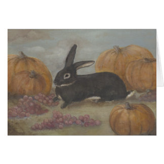 Bunny Thanksgiving Card