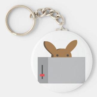 bunny toaster key ring