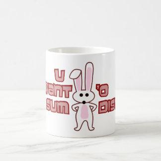 Bunny Want Sum Design Basic White Mug