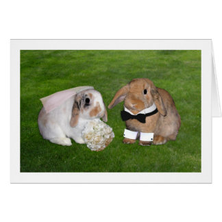Bunny Wedding Card