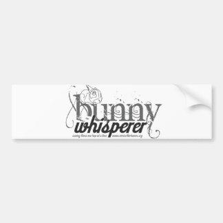 Bunny Whisperer Bumper Sticker Car Bumper Sticker