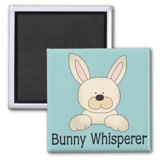 Bunny Whisperer Square Magnet