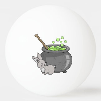 Bunny with a bubbling cauldron