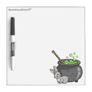 Bunny with a bubbling cauldron dry erase board