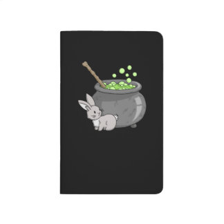 Bunny with a bubbling cauldron journal